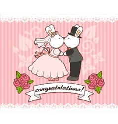 Wedding bunnies vector