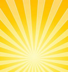 Yellow Bright Light Beams vector image