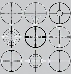 gun crosshairs silhouettes vector image