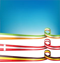 belgium switzerland and ireland flag set vector image vector image