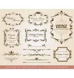 Different vintage frames vector image vector image