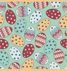 easter eggs 2017 vector image vector image