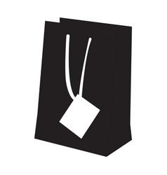 isolated shopping bag silhouette vector image