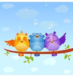 Birds sing vector image vector image
