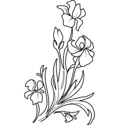 Flower sketch set vector image vector image