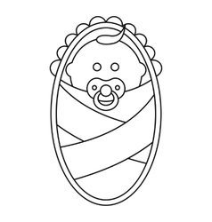 Newborn icon in outline style vector image vector image