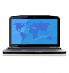 opened laptop vector image