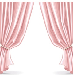 Pink curtain isolated on a white background 2 vector image