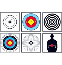 weapon targets vector image vector image