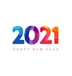 2021 colorful numbers vector image
