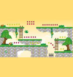 2d tileset platform game 25 vector