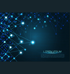 abstract blue polygon line light technology vector image
