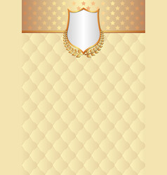 antique background with decorative pattern and vector image