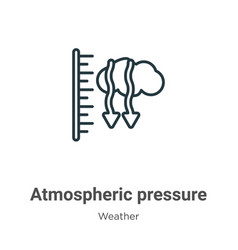 Atmospheric pressure outline icon thin line black vector