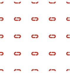 back arrow icon pattern seamless white background vector image