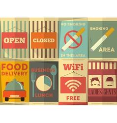Bar sign poster vector