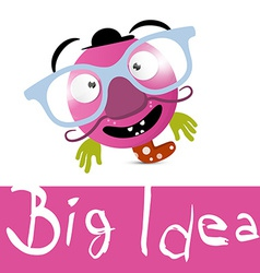 Big Idea with Funky Avatar with Glasses vector image