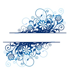 Blue floral borders vector