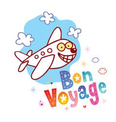 Bon voyage have a nice trip vector