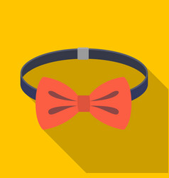 bow tie icon in flat style isolated on white vector image