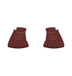 Brown boots cartoon vector