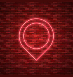 Bulb glowing neon ring lamp sign vector