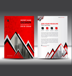 Business brochure flyer template in a4 size red vector