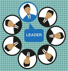 Business leader of the team design flat style Digi vector