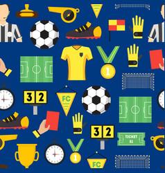 cartoon soccer sport game background pattern vector image