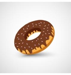 Chocolate donut vector