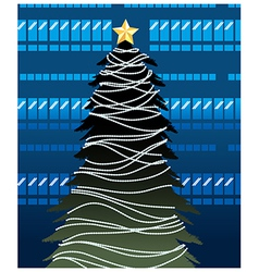 City Christmas Background vector image