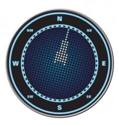compass digital display vector image