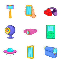 Contraption icons set cartoon style vector