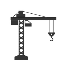 crane machine construction icon graphic vector image