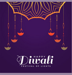 Creative happy diwali hindu festival background vector