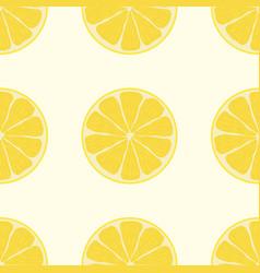 cute lemon seamless pattern seamless background vector image
