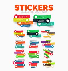 design elements set of colour paper sticker vector image
