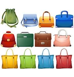 Different design of handbags vector image