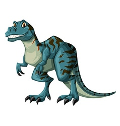 Dinosaur in blue color vector image