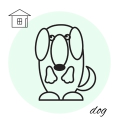 dog thin line icon vector image
