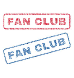 fan club textile stamps vector image