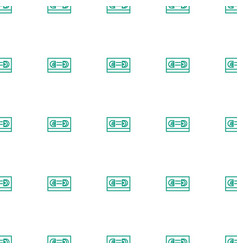 film tape icon pattern seamless white background vector image