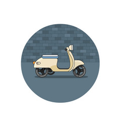 flat icon of scooter vector image