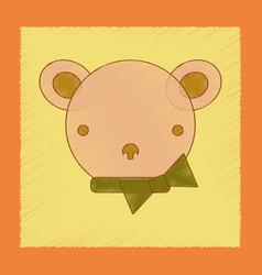 Flat shading style icon kids bear vector
