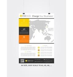 Flyer template advertising design vector