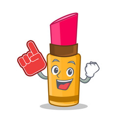 foam finger lipstick character cartoon style vector image