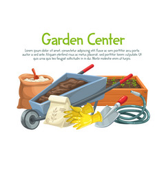 Gardening banner with flowers vector