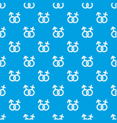 gender symbol pattern seamless blue vector image