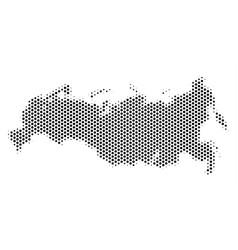 Hexagon russia map vector