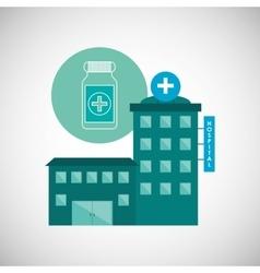 Hospital design Healthy center emergency concept vector image
